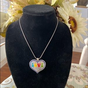 Brighton Reversible Heart Pendent Necklace NEW